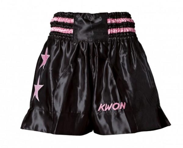 Thai-Shorts Damen schwarz/pink von: Kwon