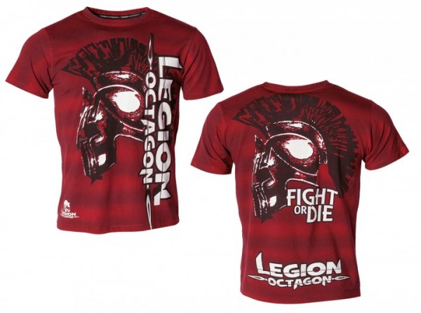 T-Shirt L.O.Fight or Die, rot