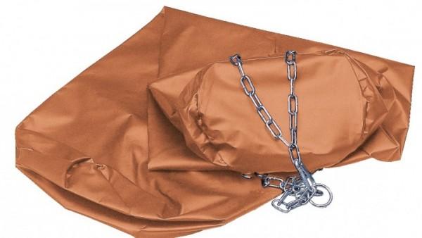 Boxsack Leder, 150 cm, ungefüllt in braun