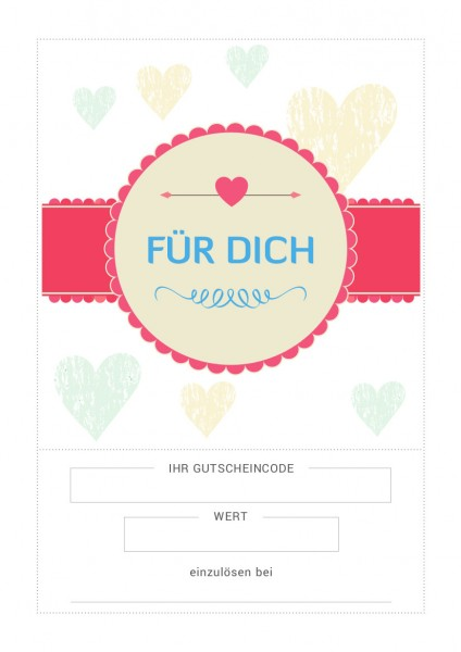 Gutschein / Motiv: Liebe