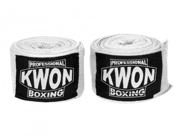 KWON PROF. BOXING BANDAGE UNELASTISCH, WEISS
