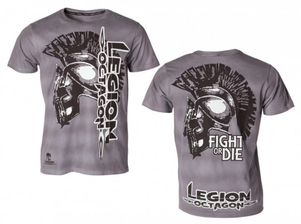 T-Shirt L.O.Fight or Die, grau