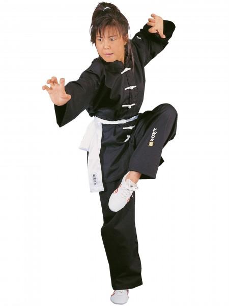 Kung Fu-Anzug mit weissen Knöpfen