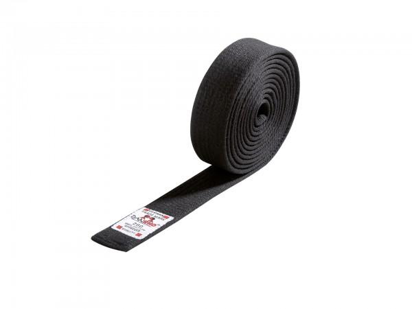 DANRHO Budo-Gürtel, in 4 cm oder 5 cm schwarz, aus Baumwolle